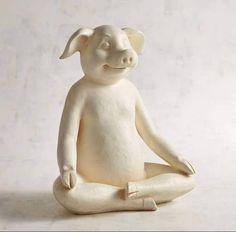 Pig Art, Mini Pigs, Cute Piggies, Pet Pigs, Buddha Art, This Little Piggy, Flying Pig, Polymer Clay Art, Zoo Animals