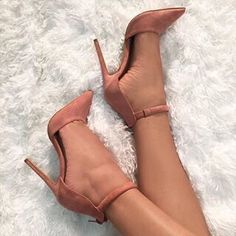Color Block Pointed Toe Ankle Wrap Stiletto High Heels – Oh Yours Fashion High Heels Stilettos, High Heel Boots, Heeled Boots, Stiletto Heels, Shoe Boots, Nude Heels, Blush Heels, Pink Heels, Dream Shoes
