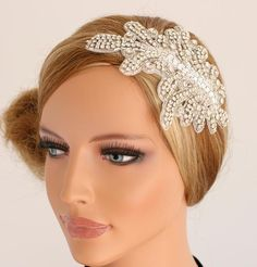 Jewel Encrusted Bridal Headband | Bridal Headpieces, Bridal Hairpieces by Portobello  Or this one?