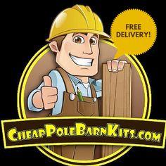 FREE DELIVERY of you DIY Pole Barn Kit! www.cheappolebarnkits.com
