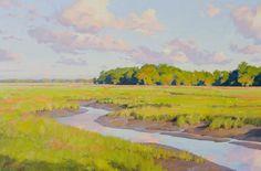 "A creek meanders along under a big blue sky in Michael B. Karas' beautiful ""Tidal Creek."""