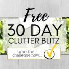 30 Day Clutter Blitz – join in!