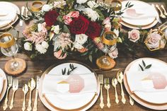 This wedding inspiration shoot featuring a romantic color palette is full of gorgeous terrariums, glam-ethereal bridal style, and tons of flowers!