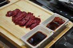 Basashi is raw horse meat. It's popular in Yamanashi