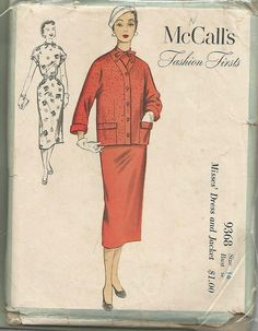 1950s Fashion Firsts Sheath Dress and Cardigan by kinseysue