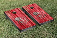 Cal State Channel Islands Dolphins Weathered Wood w/ Logo Cornhole Board & Bag Set