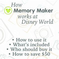 (Article last updated: December 14, 2015) Memory Maker is a hot topic since Disney promotes it a lot but many (most?) people are really confused about how it works and whether or not they should buy it for their trip. Today, I have details about how it works, what's included, who should buy it...