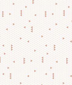 Papier peint géométrique corail