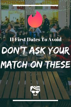 There are a bunch of Tinder first date ideas that you should definitely avoid. So many people go on these! So make sure you read this before deciding where to go on your Tinder date. Tinder Date Tips, Best Of Tinder, Fun First Dates, Tinder Match, Tinder Dating, Dating Tips, Where To Go, Reading, People