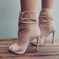 eba52c48629c Shoespie Trendy Suede Stiletto Heel Open Toe Ankle Boots Women s Boots