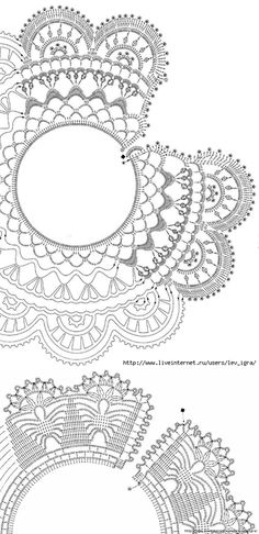 This Pin was discovered by tae Crochet Collar Pattern, Col Crochet, Crochet Lace Collar, Crochet Lace Edging, Crochet Girls, Crochet Chart, Crochet Doilies, Crochet Flowers, Crochet Stitches
