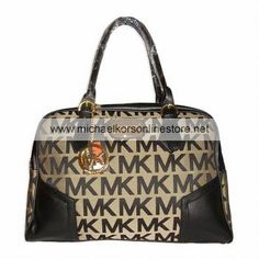 Michael Kors Outlet Handbags Clearance Brown Striped