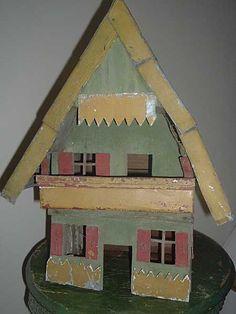 Vintage bird house paintings