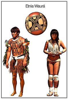 waurá indígena pintura grafismo