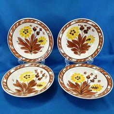 Vernon Kilns Gale Turnbull Casa California T632 Berry/Dessert Bowls (4) 1937-38 #VernonKilns