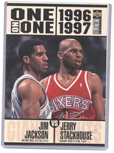 0370b3b17d7d 1996-97 udcc jim jackson   jerry stackhouse one on one jumbo card  5 from   4.99