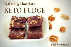 You have got to try this amazing and easy recipe for chocolate and walnut keto fudge. Takes less than 10 minutes to make and is simply divine.