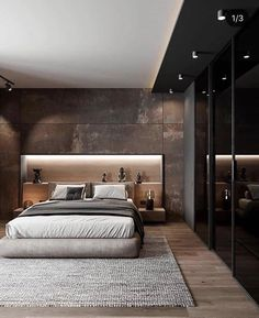 Bedroom Inspiration // Kildinov Architects The Perfect Scandinavian Style Home Modern Luxury Bedroom, Master Bedroom Interior, Luxury Bedroom Design, Modern Master Bedroom, Room Design Bedroom, Bedroom Furniture Design, Home Room Design, Bedroom Loft, Luxurious Bedrooms