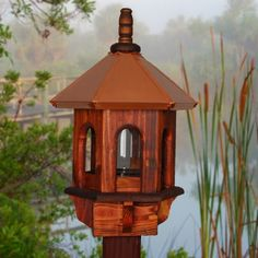 Wild Bird Feeder, Copper Bird Feeder, Rustic Bird Feeder, Gazebo Bird Feeder…