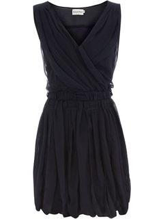 Dorothy Perkins  Navy crossover weave dress