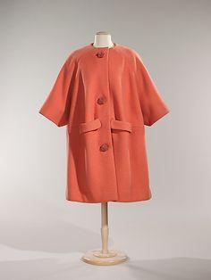 Coat  1960 Hubert de Givenchy Coat. Love the big buttons...........