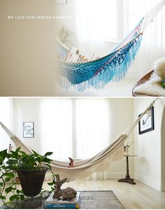 indoor hammock from cakies by Our Designed Life, via Flickr
