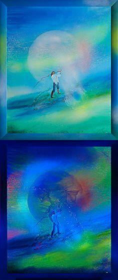 Luminescent painting THE SOUL OF JOHN FRAVEL ● 2013, canvas   acrylic, daylight and UV light • Painting Ideas   Home Decor   Art   Art Ideas   Contemporary Art   Abstract Art   Fine Art • SOLD