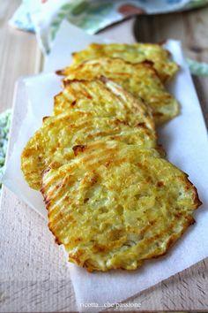 frittelle, non fritte, con patate e verza alla paprica