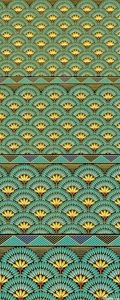 Lotus Fan Gardne from the 'Valley of the Kings' collection by Robert Kaufman Fabrics