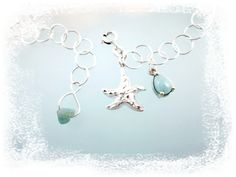 Caribbean Dreamer-Larimar-Starfish 925 Sterling Silver Anklet Adjustable Up To 10 Inches