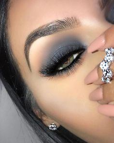 This Article For Yourself If You Enjoy eye makeup tutorial - Make Up Ideas Glam Makeup, Grey Eye Makeup, Natural Eye Makeup, Eye Makeup Tips, Cute Makeup, Makeup Goals, Beauty Makeup, Hair Makeup, Mac Makeup Looks