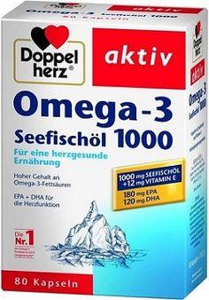 Dầu Cá Đức Omega 3 Doppelherz Seefischol 1000mg Vitamin E Chính Hãng Omega 3, Vitamin E, Gluten, Personal Care, Aktiv, Products, Heart Function, Healthy Food, Pisces