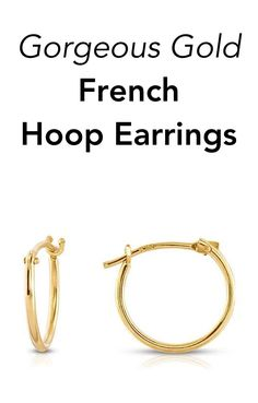 Gold french lock hoops perfect to dress up any look!