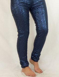 Sequin Leggings: Blue