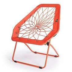 The Bunjo Oversized Bungee Chair features a metal frame with real nylon bungee cord that is woven through the center to form a fun seat. Looks great in a dorm, family room or as a stylish accent in a living room.