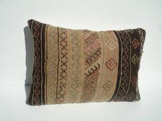"Modern Bohemian Home Decor,Turkish Kilim Pillow 13,7"" x 19,6"""