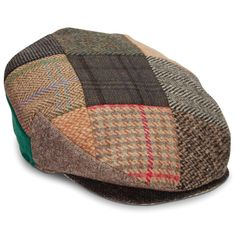 The Genuine Irish Tweed Patchwork Cap - Hammacher Schlemmer