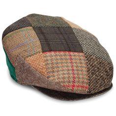The Genuine Irish Tweed Patchwork Cap - Hammacher Schlemmer