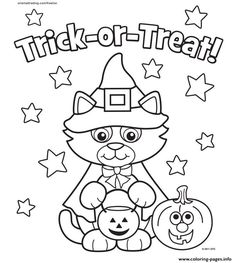 Cat Halloween Costum Kitty Coloring Pages Printable And Book To Print For Free Find More Online Kids Adults Of
