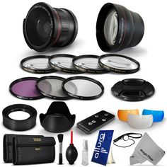 Fisheye Telephoto Lens & Accessories Kit for Canon EOS 700D 650D 600D 550D 450D #Vivitar #MagicFiber Awesome #CyberMondayDEAL / FREE WORLDWIDE SHIPPING!!!