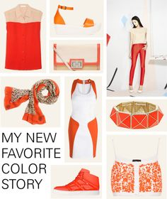 """Orange and Cream"" by splittrends ❤ liked on Polyvore"