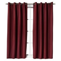 Eclipse™ Fairfax Thermaweave Window Panel Bedroom against taupe walls? Maroon Curtains, Burgundy Curtains, Curtains With Blinds, Panel Curtains, Blackout Curtains, Shower Curtains, Maroon Bedroom, Light Blocking Curtains, Taupe Walls