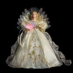 14 Animated Fiber Optic Angel Christmas Tree Topper With