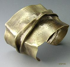 brass fold formed cuff