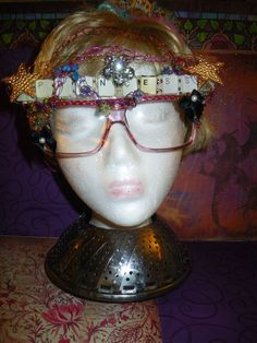 Princess Geek Glasses made with computer parts by craftybabydoll, $20.00