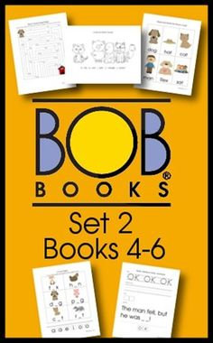 Free BOB Book Printables for Set 2 Books 4-6