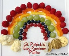 St. Patrick's Day Rainbow Platter: Fun Food for Kids! | The Jenny Evolution