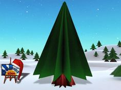 Simple Origami Christmas Tree  Origami Pine Tree. Model Traditional  Folder and Photographer: @Origami_Kids   HOW TO FOLD http://www.origamichristmas.com/2014/12/simple-origami-christmas-tree.htm