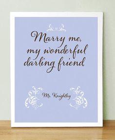 Jane Austen   Mr Knightley's Proposal to Emma  Marry Me My by UUPP, $20.00