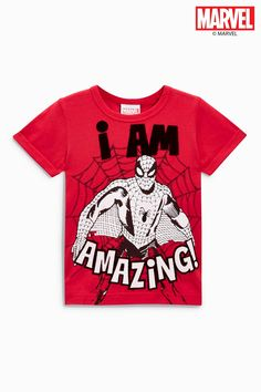 5c175ccc437e8 Buy Red Short Sleeve Spider-Man™ T-Shirt (3mths-6yrs) from the Next UK  online shop